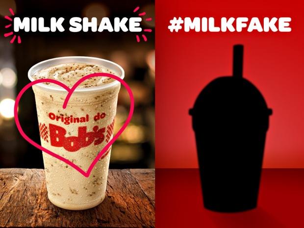 MilkFake foi a resposta do Bobs ao McDonald's