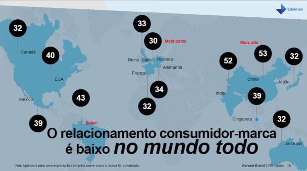 Mapa dos países e suas scores