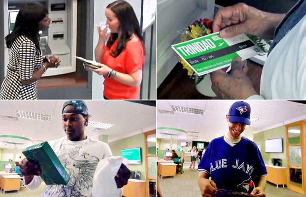 Alguns exemplos de clientes premiados pela ação de retenção do TD Canada Trust Bank